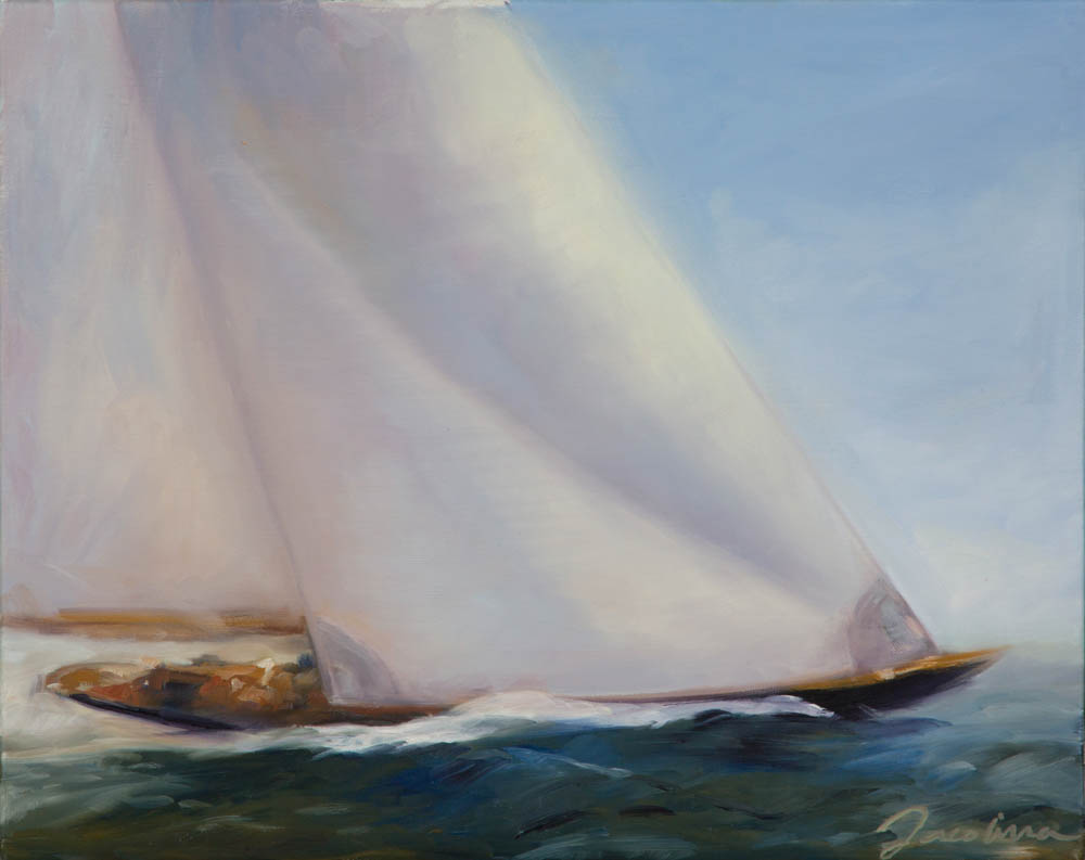 I am inspired by the ocean and sailing