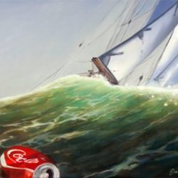 The enormous success of Coca Cola came from the same human brain as the sailboat.